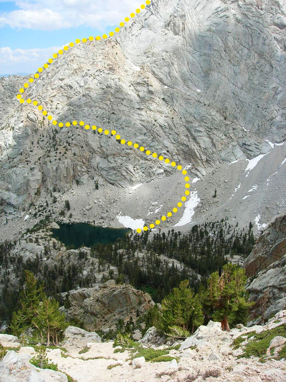 East Ridge from Lone Pine Lake