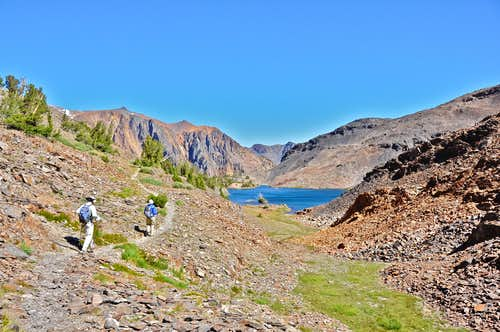 Hiking toward Odell Lake