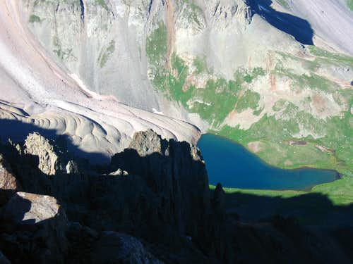 Scree glacier