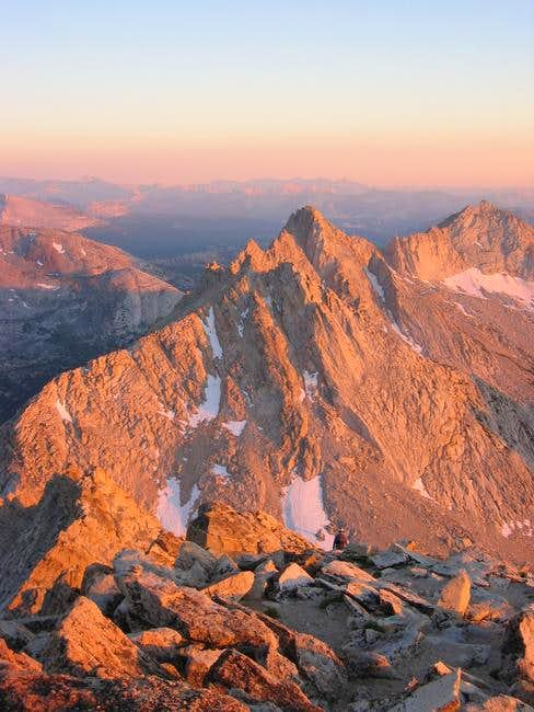 Whorl Mountain in alpenglow,...