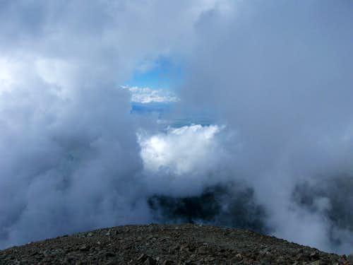 Cloud window on the summit