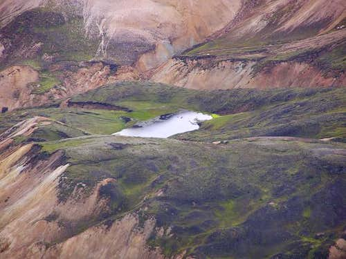Small alpine lake to the...