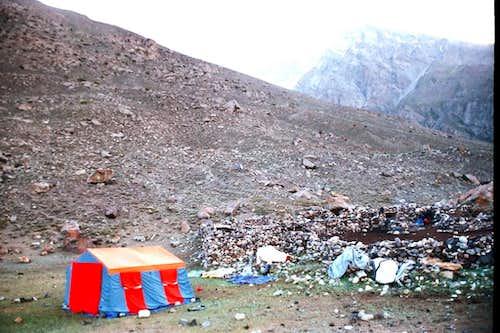 Camping at Hisper Glacier