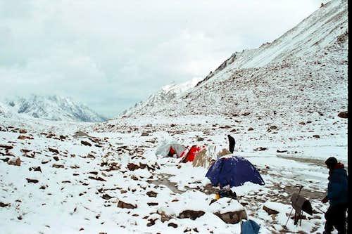 Camp at Hisper Glacier
