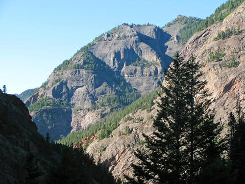 Cliffs above east side of CO-550