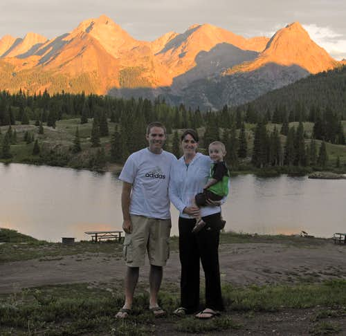 Molas Lake Family Photo
