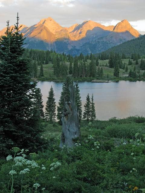 Sunset at Molas Lake