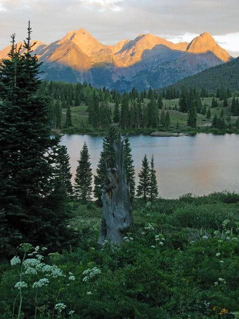 Sunset at Molas Lake