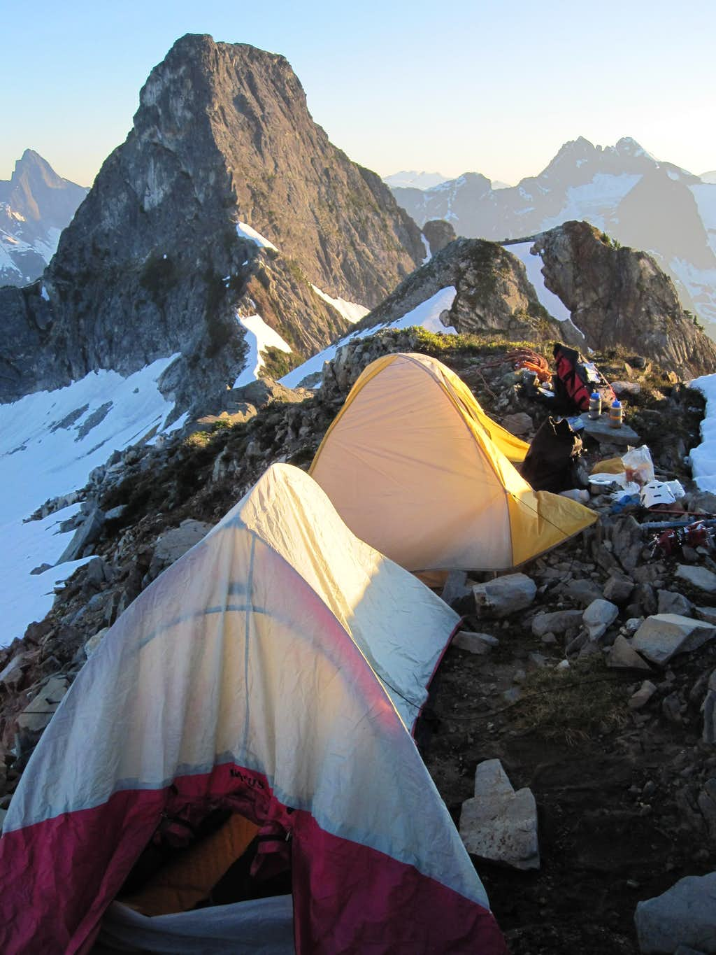 Camp at Stump Col