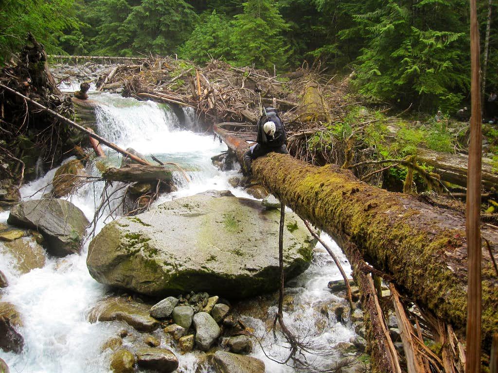 Jeff crossing Terror Creek