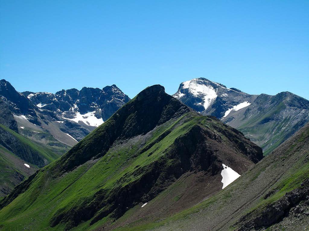 Pazüelfernerspitze (2712m) and Trittkopf (2720m)