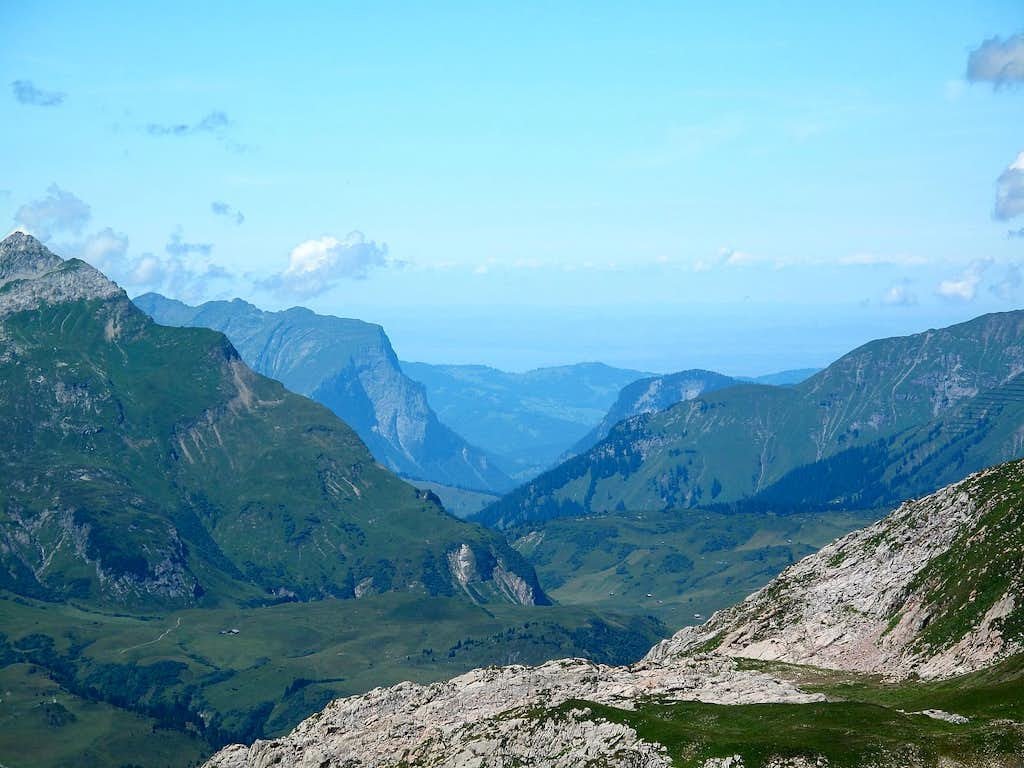 Zoom on the Bregenzerwald to the north west