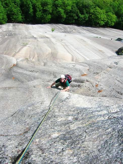 Yours truly climbing the...