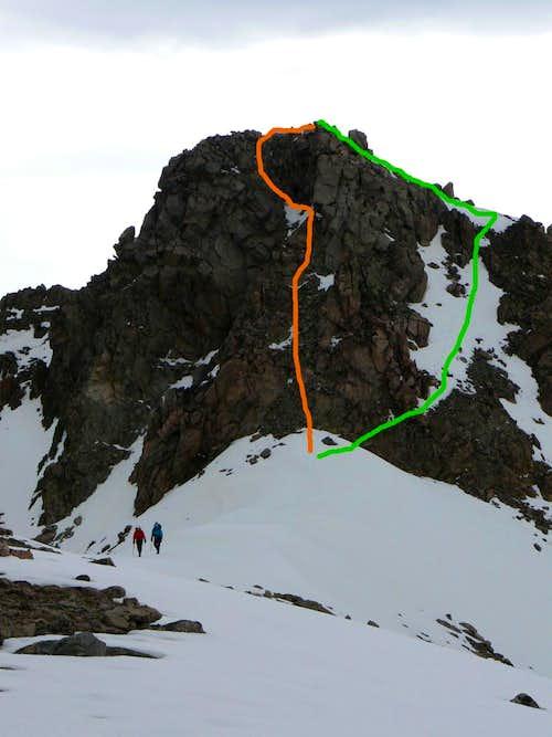 Imp Peak East Summit Routes