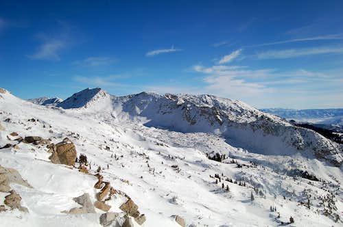 White Baldy & Wishbone Ridge in Winter