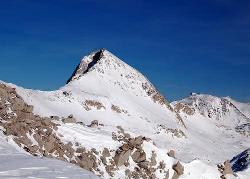 Pfeifferhorn from the West in Winter