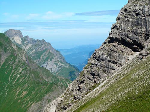 Looking down the Bregenzerwald from the Mohnenfluh trail