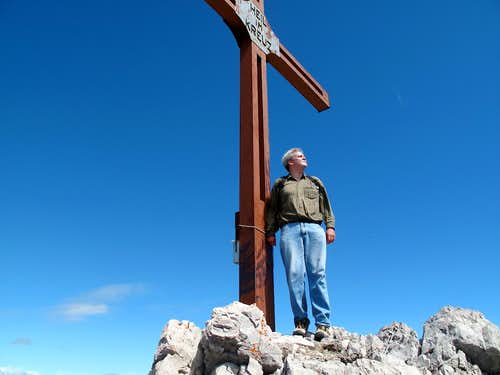 Me beside the summit cross on Mohnenfluh (2544m)