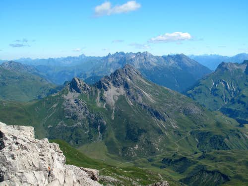 View from the summit of Mohnenfluh (2544m) to the north east