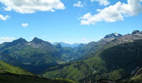 Late afternoon panorama of the Zugertal valley