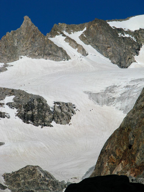 Climbers on Gannett Peak