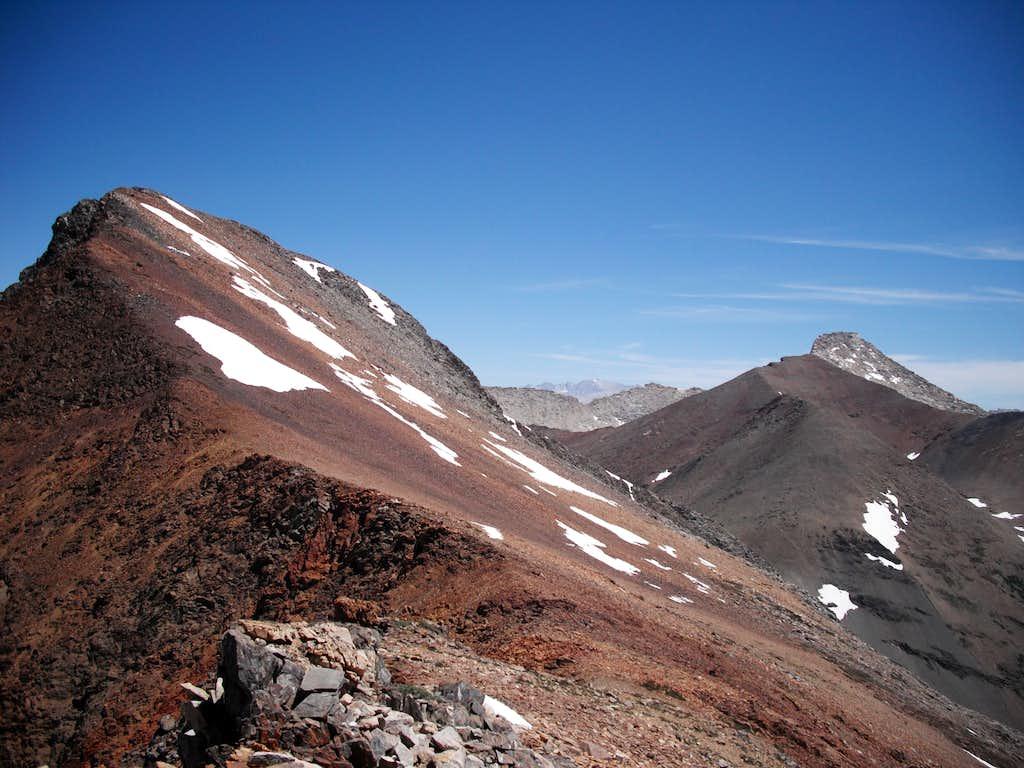 Saddle between Vandever and Falcon Peak.