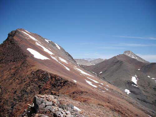 Saddle between Vandever and Falcon Peak.