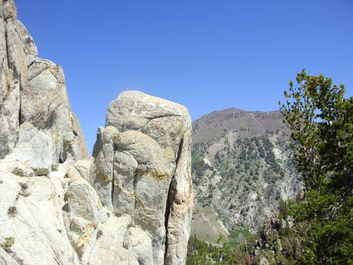 Shot #2 - Mount Rose 10,776\' behind the Tamarack Lake rocks
