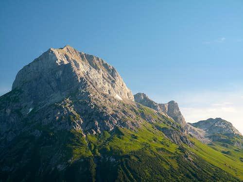 The Omesberg (2558 meters) above Lech am Arlberg