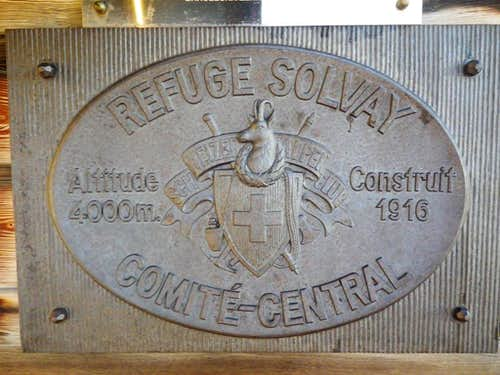 Solvay Hut plaque