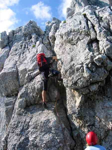 The first and crux pitch of...