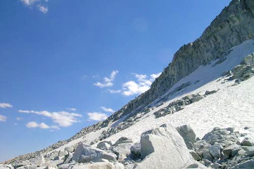 Close up of the east ridge...