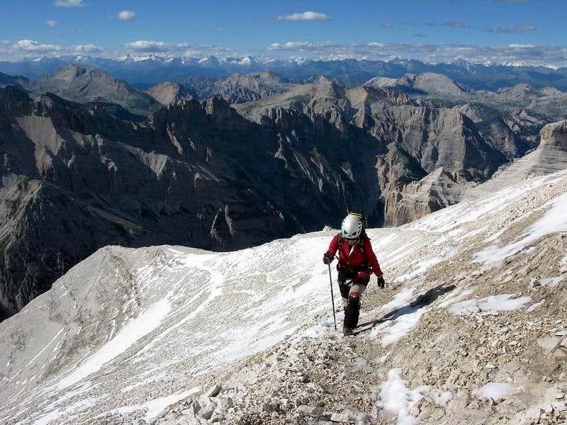 Ascent on Tofana di Rozes...