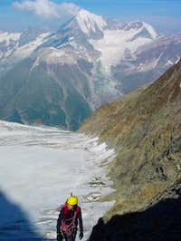 View down to Festigletscher,...