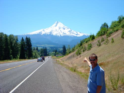 Mt Hood As Seen Looking South Along OR Route 35