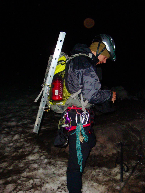 Josh on the Climbers Trail of Mt. Hood