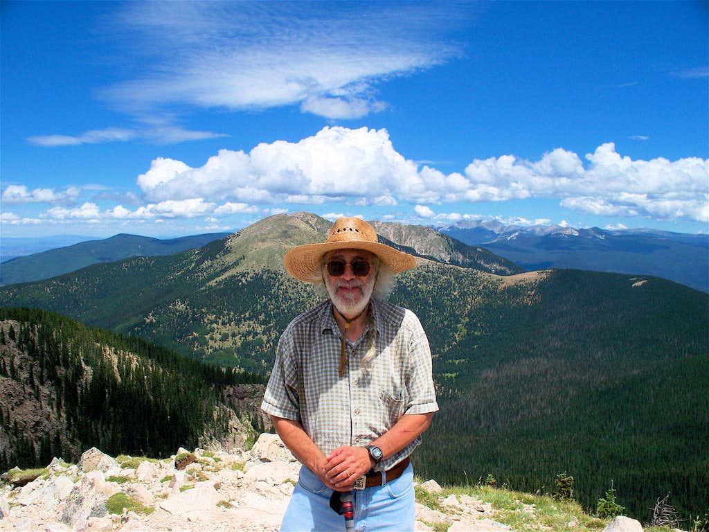Dr. Dickie on Lake Peak