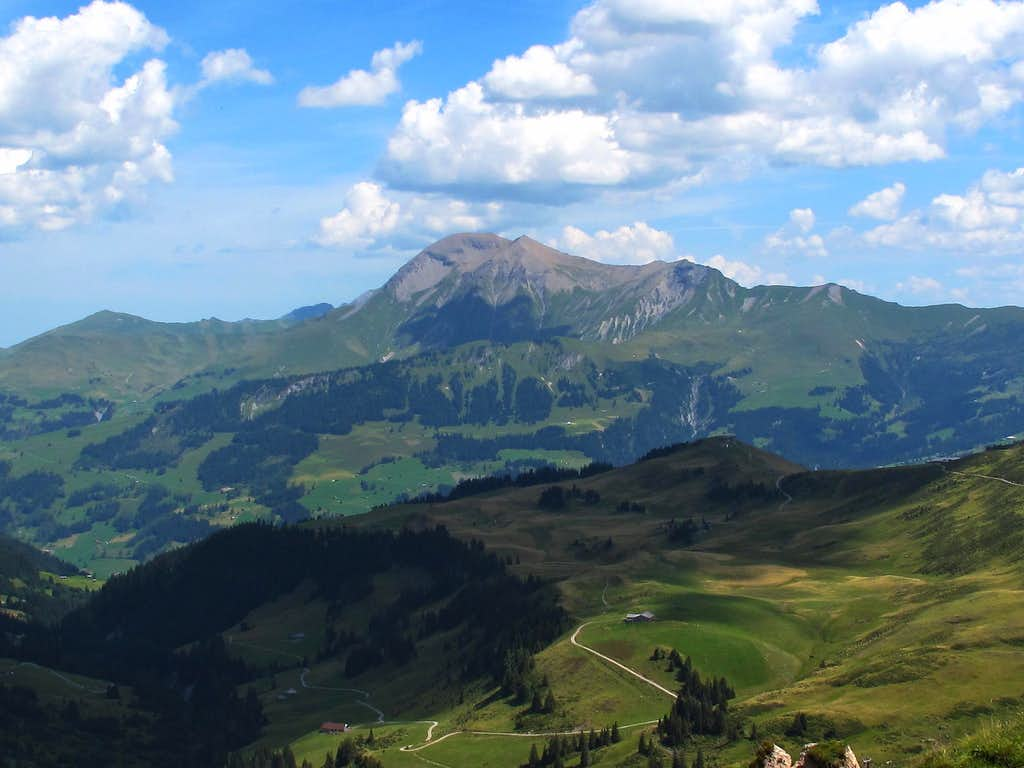 The Albrist (2762m) seen from the Leiterli above Lenk