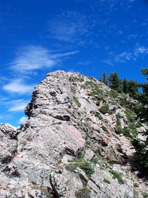 Final Ascent on Lake Peak