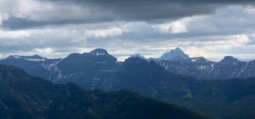 Amphitheater Mountain, Index Peak, and Pilot Peak