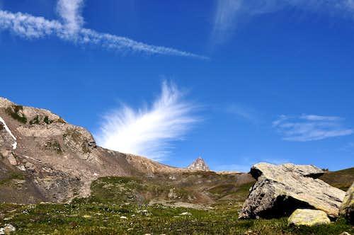 Views of Aiguille des Glaciers and Aiguille de Trélatête