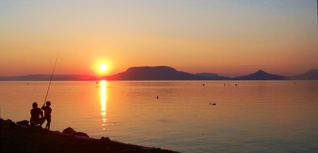 Sunset with Badacsony