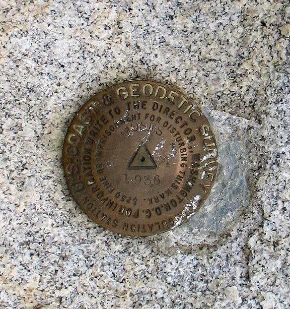 Benchmark for Moses Mtn (WA)