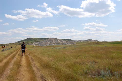 Trail to White Butte, ND