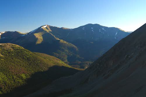 Mount Parnassus and Bart Peak from lower Kelso ridge