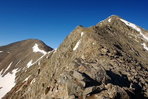The upper section of Kelso Ridge