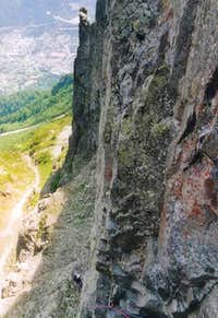 Taken from belay pit at top...