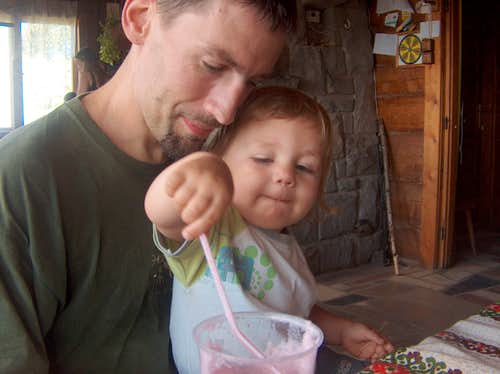 Nicolas at the Maciejowa hut