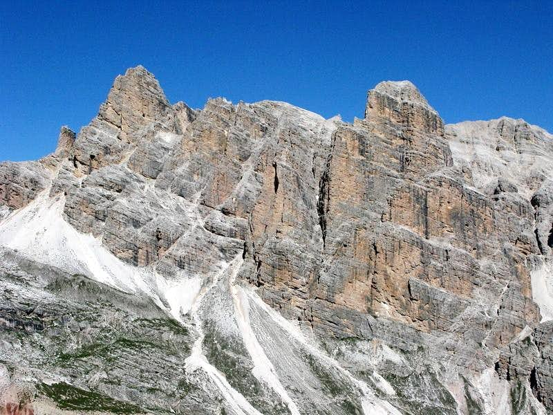 The view from ferrata Lipella