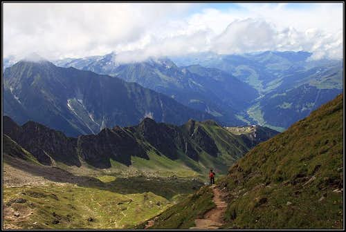 Descent from Ahornspitze